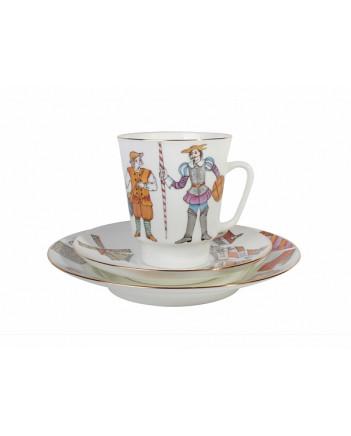 LOMONOSOV IMPERIAL BONE CHINA PORCELAIN ESPRESSO CUP SET MAY BALLET DON QUIXOTE 165 ml/5.6 fl.oz