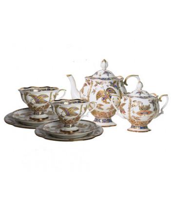 LOMONOSOV IMPERIAL BONE CHINA PORCELAIN TEA SET SERVICE NATASHA FANTASTIC BUTTERFLIES 20 items
