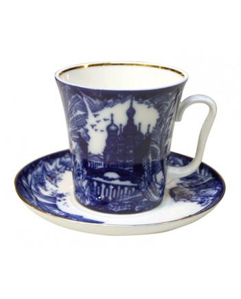 LOMONOSOV IMPERIAL PORCELAIN COFFEE LATTE HOT CHOCOLATE MUG FROSTY DAY 360 ml/12.2 fl.oz