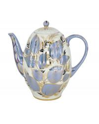 LOMONOSOV IMPERIAL PORCELAIN COFFEE POT MOONLIGHT TULIP 8 Cup 40 oz/1200 ml