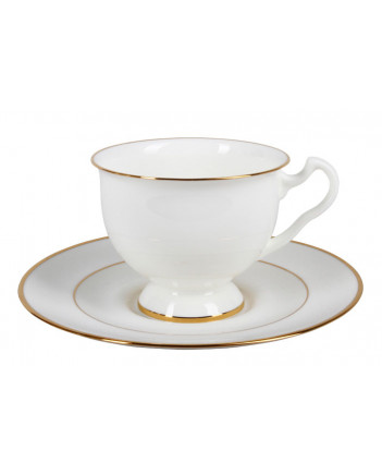 LOMONOSOV IMPERIAL BONE CHINA PORCELAIN TEA CUP AISEDORA GOLDEN EDGE 240 ml/8.12 fl.oz