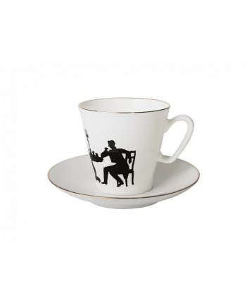 LOMONOSOV IMPERIAL BONE CHINA PORCELAIN ESPRESSO CUP BLACK COFFEE VISITOR 80 ml/2.7 fl.oz