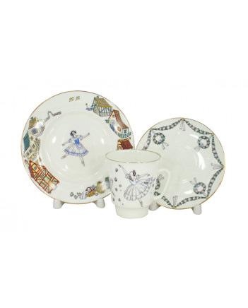 LOMONOSOV IMPERIAL BONE CHINA PORCELAIN ESPRESSO CUP SET MAY BALLET GISELLE 165 ml/5.6 fl.oz