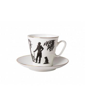 LOMONOSOV IMPERIAL BONE CHINA PORCELAIN ESPRESSO CUP BLACK COFFEE MEETING 80 ml/2.7 fl.oz
