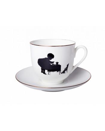 LOMONOSOV IMPERIAL BONE CHINA PORCELAIN ESPRESSO CUP TEATIME 180 ml 6.1 fl.oz