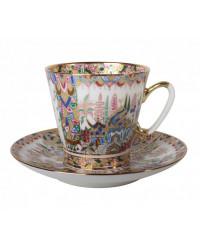 LOMONOSOV IMPERIAL BONE CHINA RARE PORCELAIN ESPRESSO CUP BLACK COFFEE ORIENTAL GIFTS 80 ml/2.7 fl.oz