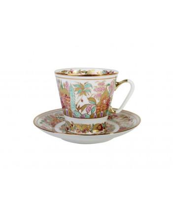 LOMONOSOV IMPERIAL BONE CHINA RARE PORCELAIN ESPRESSO CUP BLACK COFFEE LANDSCAPE FRIEZE 80 ml/2.7 fl.oz
