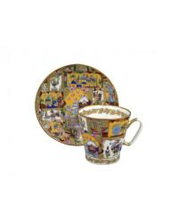 LOMONOSOV IMPERIAL BONE CHINA RARE PORCELAIN ESPRESSO CUP BLACK COFFEE FAIRYTALE 80 ml/2.7 fl.oz