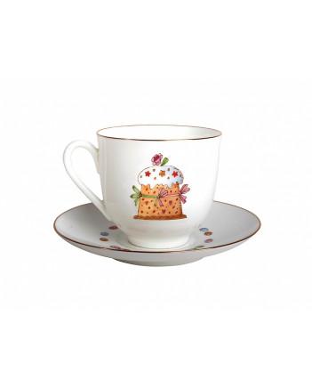 LOMONOSOV IMPERIAL BONE CHINA PORCELAIN ESPRESSO CUP EASTER MEAL 180 ml 6.1 fl.oz