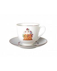 LOMONOSOV IMPERIAL BONE CHINA PORCELAIN ESPRESSO CUP EASTER CAKE 180 ml 6.1 fl.oz