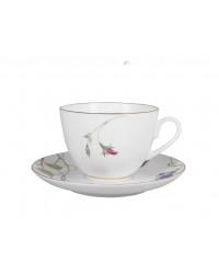 LOMONOSOV IMPERIAL BONE CHINA PORCELAIN TEA SET SERVICE SPRING FLOWERING SWEET PEA 20 items
