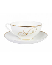 LOMONOSOV IMPERIAL BONE CHINA PORCELAIN TEA CUP DOME GOLDEN CURLS 300 ml/10.1 fl.oz