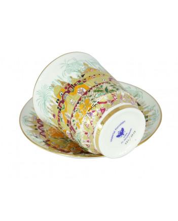 LOMONOSOV IMPERIAL BONE CHINA RARE PORCELAIN ESPRESSO CUP MAY GOLDEN SPRING 165 ml/5.6 fl.oz