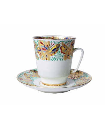 LOMONOSOV IMPERIAL BONE CHINA RARE PORCELAIN ESPRESSO CUP MAY MOTLEY BUTTERFLIES 165 ml/5.6 fl.oz