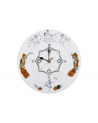 "LOMONOSOV IMPERIAL PORCELAIN DECORATIVE WALL CLOCK BALLET GISELLE 27 cm/10.6"""