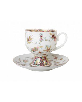 LOMONOSOV IMPERIAL BONE CHINA RARE PORCELAIN ESPRESSO TEA CUP CLASSIC-2 GOLDEN TWIGS 140 ml/4.7 fl.oz