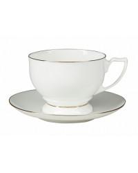 LOMONOSOV IMPERIAL BONE CHINA PORCELAIN TEA CUP PEARL GOLDEN EDGE 340 ml/11.5 fl.oz