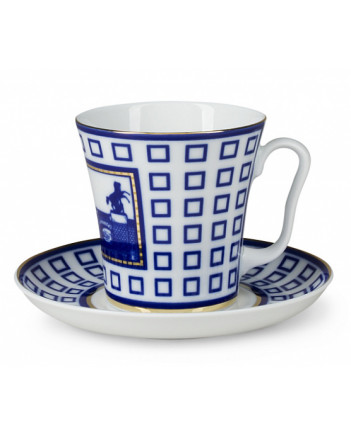 LOMONOSOV IMPERIAL PORCELAIN COFFEE LATTE HOT CHOCOLATE MUG ANICHKOV BRIDGE 360 ml/12.2 fl.oz