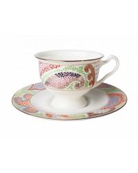 LOMONOSOV IMPERIAL BONE CHINA PORCELAIN TEA CUP AISEDORA MARIENTAL VIOLET 240 ml/8.12 fl.oz