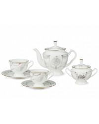 LOMONOSOV IMPERIAL BONE CHINA PORCELAIN TEA SET SERVICE SWAN LAKE 14 items