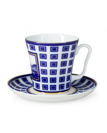 LOMONOSOV IMPERIAL PORCELAIN COFFEE LATTE HOT CHOCOLATE MUG STARO-KALINKIN BRIDGE 360 ml/12.2 fl.oz