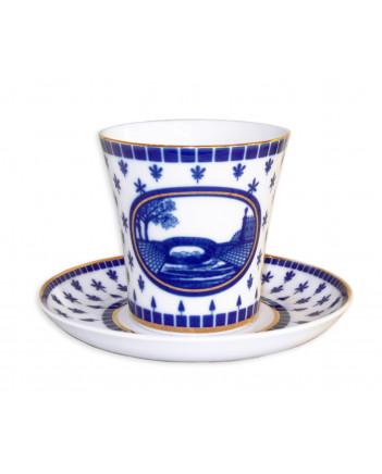 LOMONOSOV IMPERIAL PORCELAIN COFFEE LATTE HOT CHOCOLATE MUG SWAN BRIDGE 360 ml/12.2 fl.oz