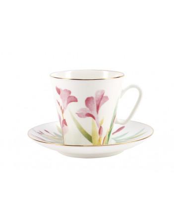 LOMONOSOV IMPERIAL BONE CHINA PORCELAIN ESPRESSO CUP BLACK COFFEE AQUARELLE 80 ml/2.7 fl.oz