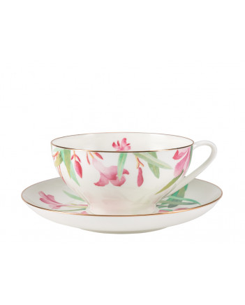 LOMONOSOV IMPERIAL BONE CHINA PORCELAIN TEA CUP DOME AQUARELLE 300 ml/10.1 fl.oz