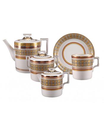 LOMONOSOV IMPERIAL PORCELAIN TEA SET SERVICE BELVEDER 14 items