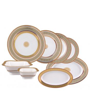 LOMONOSOV IMPERIAL PORCELAIN DINNER SET BELVEDER 24 items