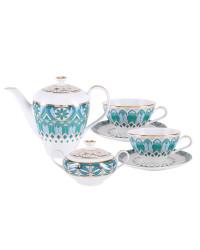LOMONOSOV IMPERIAL PORCELAIN TEA SET SERVICE GOTHIC 14 items