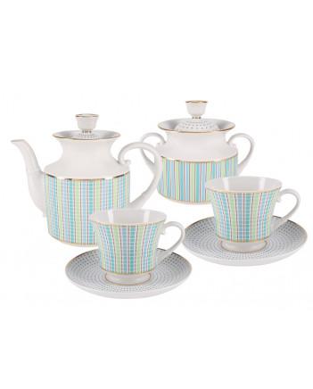 LOMONOSOV IMPERIAL PORCELAIN TEA SET SERVICE DUBLIN 14 items