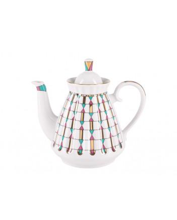 LOMONOSOV IMPERIAL PORCELAIN TEA SET SERVICE GEOMETRY 14 items