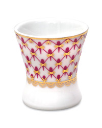 LOMONOSOV IMPERIAL PORCELAIN EGG HOLDER STAND CUP RED NET