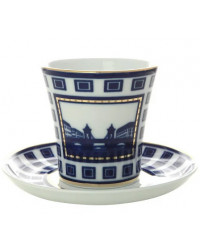 LOMONOSOV IMPERIAL PORCELAIN COFFEE LATTE HOT CHOCOLATE MUG LOMONOSOV BRIDGE 360 ml/12.2 fl.oz
