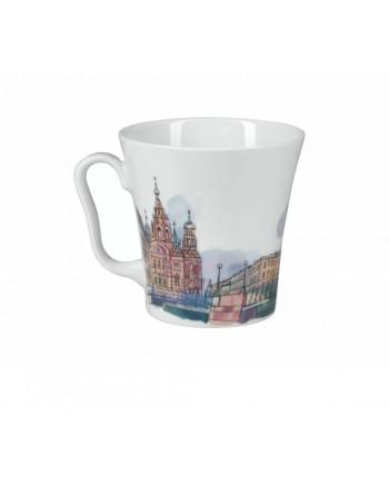 LOMONOSOV IMPERIAL PORCELAIN COFFEE LATTE HOT CHOCOLATE MUG MALO-KONYUSHENNIY BRIDGE 360 ml/12.2 fl.oz
