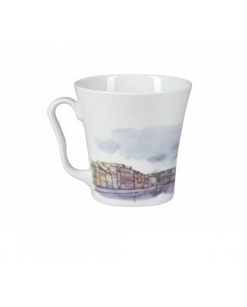 LOMONOSOV IMPERIAL PORCELAIN COFFEE LATTE HOT CHOCOLATE MUG ENGINEER BRIDGE 360 ml/12.2 fl.oz