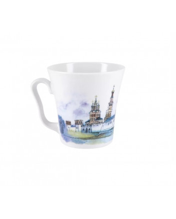 LOMONOSOV IMPERIAL PORCELAIN COFFEE LATTE HOT CHOCOLATE MUG MOSCOW MONASTERY 360 ml/12.2 fl.oz