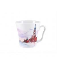 LOMONOSOV IMPERIAL PORCELAIN COFFEE LATTE HOT CHOCOLATE MUG MOSCOW RED SQUARE 360 ml/12.2 fl.oz