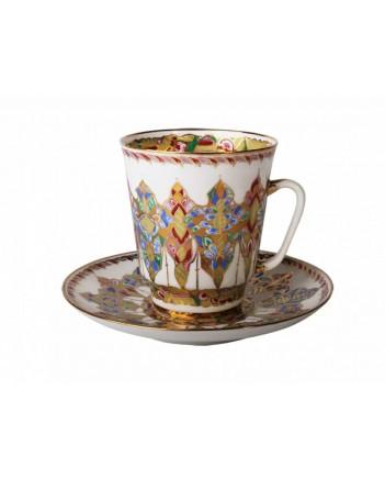 LOMONOSOV IMPERIAL BONE CHINA RARE PORCELAIN ESPRESSO CUP MAY ARABESQUE 165 ml/5.6 fl.oz