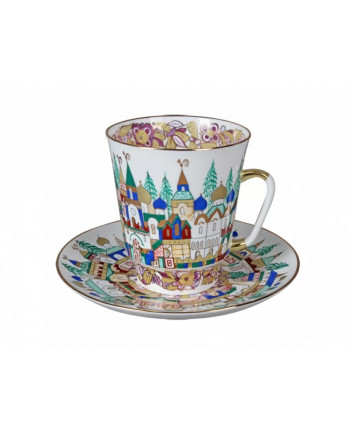 LOMONOSOV IMPERIAL BONE CHINA RARE PORCELAIN ESPRESSO CUP MAY ANCIENT RUSSIA 165 ml/5.6 fl.oz