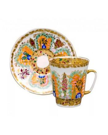 LOMONOSOV IMPERIAL BONE CHINA RARE PORCELAIN ESPRESSO CUP MAY MORNING 165 ml/5.6 fl.oz