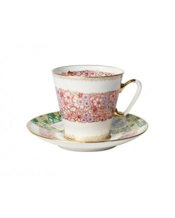 LOMONOSOV IMPERIAL BONE CHINA RARE PORCELAIN ESPRESSO CUP BLACK COFFEE TENDER WREATH 80 ml/2.7 fl.oz
