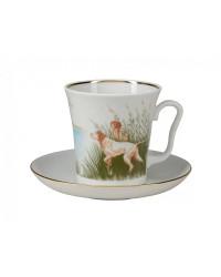 LOMONOSOV IMPERIAL PORCELAIN COFFEE LATTE HOT CHOCOLATE MUG DUCKS 360 ml/12.2 fl.oz