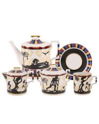 LOMONOSOV IMPERIAL PORCELAIN TEA SET SERVICE AIDA 15 items