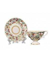 LOMONOSOV IMPERIAL BONE CHINA PORCELAIN TEA CUP NATASHA PINK FLOWERS 220 ml/7.4 fl.oz
