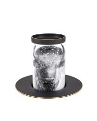 LOMONOSOV IMPERIAL PORCELAIN COFFEE LATTE HOT CHOCOLATE MUG TOTEM ANIMAL OX BUFFALO BISON 390 ML/13.2 FL.OZ