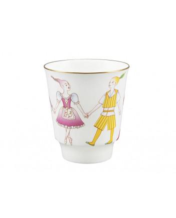 LOMONOSOV IMPERIAL BONE CHINA PORCELAIN ESPRESSO CUP SET MAY BALLET CIPOLLINO 165 ml/5.6 fl.oz