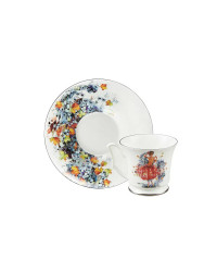 LOMONOSOV IMPERIAL BONE CHINA PORCELAIN ESPRESSO CUP YULIA AUTUMN 145 ml/10.1 fl.oz