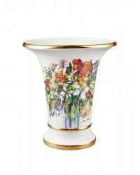 "LOMONOSOV IMPERIAL PORCELAIN FLOWER VASE SPRING BOUQUET EMPIRE 20 CM/8"""